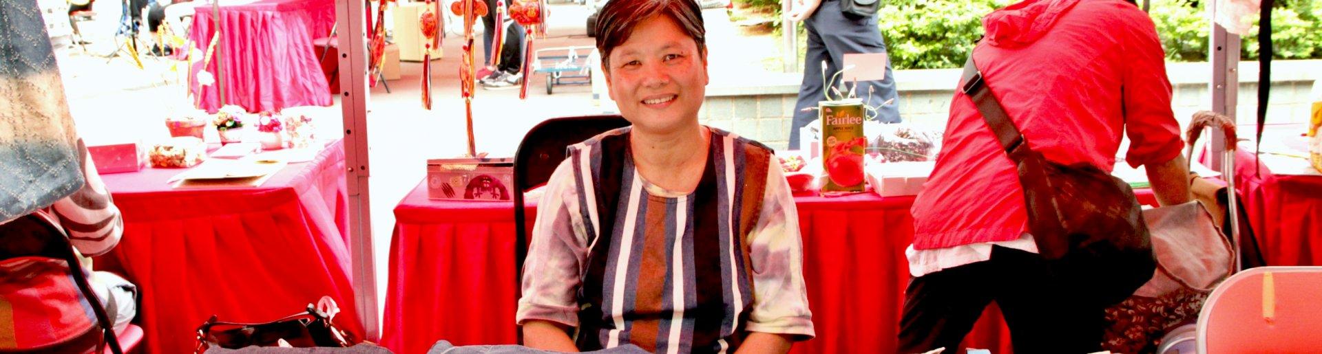 巫太與她的自家製布袋